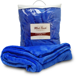 Case of [24] Wholesale Mink Touch 50x60 Throw - Royal Blue
