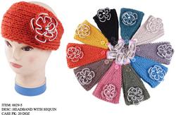 Case of [144] Flower & Sequin Winter Headbands