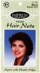 Case of [144] Impress Black Hair Nets - 3 Piece