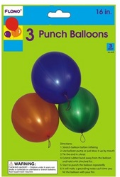 """Case of [36] 16"""" Punching Balloons with Rubber Band Handles"""