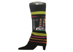 Case of [60] Black & Neon Stripes Leg Warmers