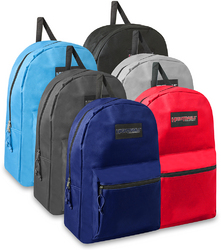 """Case of [24] 19"""" Basic Backpack - 6 Colors"""