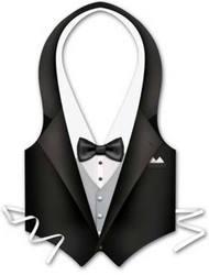 Case of [24] Packaged Plastic Tux Vest