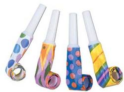 Case of [48] Packaged Party Blowouts - Assorted Designs