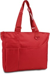 Category: Dropship Travel & Bags, SKU #1917459, Title: Case of [24] 600 Denier Super Feature Tote - Red