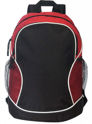 "Case of [24] 11.5"" Poly Backpack - Red/Black"