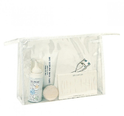 Case of [200] Clear Cosmetic Vinyl Tote