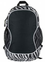 "Case of [24] 11.5"" Zebra Poly Backpack - Zebra"