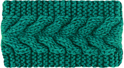 Case of [24] Winter Teal Cable Headband