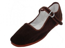 Case of [36] Women's Brown Color Velvet Mary Janes Shoes (36 pairs)