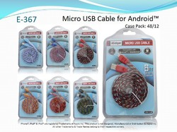 6 ft. Flat Wide Rope Cable For Micro USB