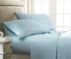 Case of [12] Soft Essentials Premium Embossed Checker Design 4 Piece Bed Sheet Set (Full - Aqua)