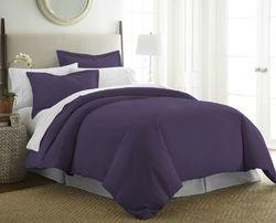 Case of [12] Queen-Full / Queen-Full Premium Ultra Soft 3 Piece Duvet Cover Set - Purple