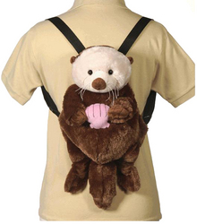 "Case of [12] 16"" Travel Buddies Sea Otter Plush Backpack"
