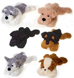 """Case of [12] 22"""" Laydown Dog Plush Toy - Assorted Styles"""