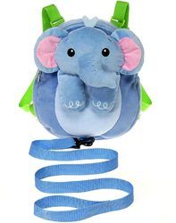 """Case of [12] 10"""" Travel Buddies Elephant Plush Backpack with Harness"""