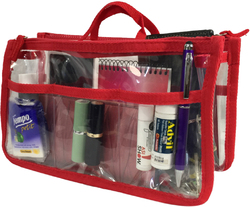 Case of [20] K-Cliffs Clear Handbag Organizer - Red Trim
