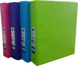 "Case of [24] E-Clips 1.5"" 3-Ring Binder - 4 Neon Colors"