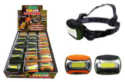 Case of [18] Camo COB LED Head Lamp
