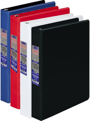 Case of [24] Half Inch 3 Ring Vinyl Binder - Assorted Colors
