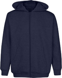 Case of [6] Premium Navy Youth Zippered Hoody - Size 3/4