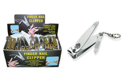 Case of [72] Fingernail Clippers with Nail File - Display included
