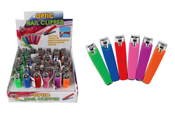 Case of [36] Max Force Silicone Grip Finger Nail Clippers - Display included