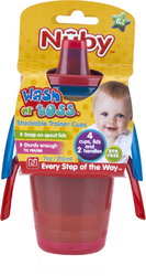Case of [24] Nuby? Wash or Toss Trainer Cups 7 oz 4-Pack