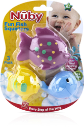 Case of [24] Nuby? Fun Fish Bath Squirter Toys 3-Pack