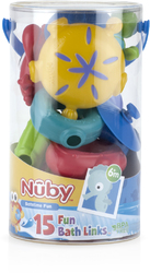 Case of [24] Nuby? 15-Piece Fun Bath Sea Links