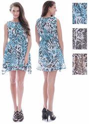 Case of [36] Women's Chiffon Dresses - Zebra Leopard Animal Prints