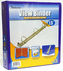 """Case of [12] 1.5"""" Clear View Pocket Binder - Purple"""