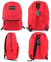 """Case of [12] 17"""" PureSport Basic Backpacks - Red"""