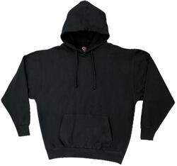 Case of [12] Cotton Plus Hooded Sweatshirts - Black - 2XL