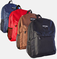 """Case of [24] 18"""" EastWest Classic Backpacks - 12 Assorted Colors"""