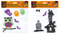 Category: Dropship Party Supplies, SKU #1997162, Title: Case of [72] Halloween Printed Removable Window Gels
