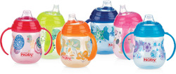 Case of [36] Nuby? No-Spill Clik-It 2-Handle Trainer Cup 9 oz 2-Pack