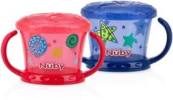 Case of [12] Nuby? Printed Snack Keepers 2-Pack