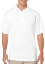 Case of [12] Irregular Gildan White Polo Shirts - Size 3XL