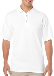 Case of [12] Irregular Gildan White Polo Shirts - Size Large
