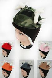 Case of [12] Children's Fleece Hat with Deer Antler & Ears