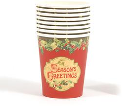 Case of [36] Season's Greetings Printed Cups