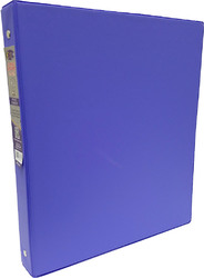 "Case of [24] E-Clips 1"" 3-Ring Binder - Purple, Hard Cover, 2 Pockets"