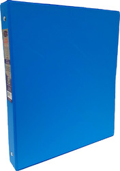 """Case of [24] E-Clips 1"""" 3-Ring Binder - Neon Blue, Hard Cover, 2 Pockets"""
