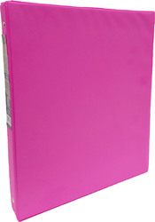 "Case of [24] 1"" Hard Cover (PVC Free) 3-Ring Binder - Neon Pink"