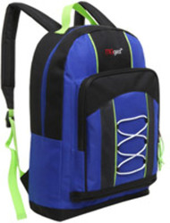 "Case of [20] 15"" Classic Bungee Pocket Backpack - Blue"
