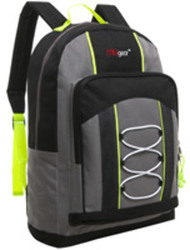 "Case of [20] 15"" Classic Bungee Pocket Backpack - Grey"
