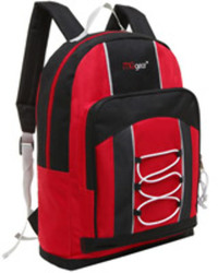 """Case of [20] 15"""" Classic Bungee Pocket Backpack - Red"""