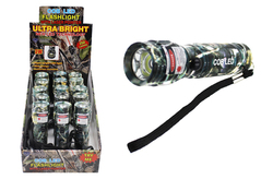 Case of [15] Camo 3Watt Cob Flashlight With Laser