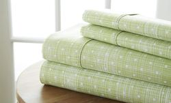 Case of [12] Soft Essential Premium Ultra Soft Polka Dot Pattern 4 Piece Bed Sheet Set - Moss - Full